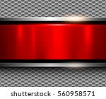 background metallic silver with ... | Shutterstock .eps vector #560958571