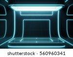 futuristic empty stage. modern... | Shutterstock . vector #560960341
