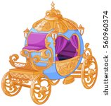 cinderella fairy tale carriage  | Shutterstock .eps vector #560960374