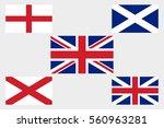 vector uk flag set | Shutterstock .eps vector #560963281