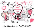 set of image balloon for happy... | Shutterstock .eps vector #560966089
