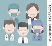 doctors group with stethoscope  ...   Shutterstock .eps vector #560971201