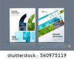 business vector. brochure... | Shutterstock .eps vector #560975119