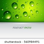 green background with water... | Shutterstock .eps vector #560984491