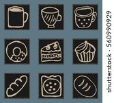 square icons of kitchen items ...