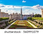 cityscape of brussels in a... | Shutterstock . vector #560991079