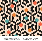 seamless abstract pattern of... | Shutterstock .eps vector #560991799
