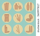 set of icons for the site on... | Shutterstock .eps vector #560997817
