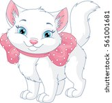 white cat | Shutterstock .eps vector #561001681