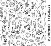green vegetables  detox.... | Shutterstock .eps vector #561026191