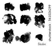 set of watercolor spots.... | Shutterstock .eps vector #561026299