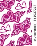 valentine's day pattern with...   Shutterstock .eps vector #561027217