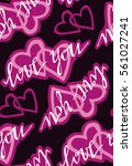 valentine's day pattern with... | Shutterstock .eps vector #561027241