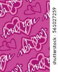 valentine's day pattern with... | Shutterstock .eps vector #561027259