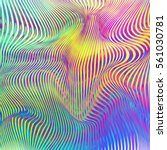 vector warped lines colorful... | Shutterstock .eps vector #561030781