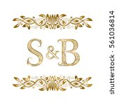 s and b vintage initials logo...   Shutterstock .eps vector #561036814