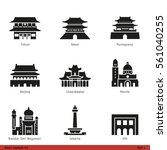 asian capitals  part 1    glyph ...   Shutterstock .eps vector #561040255
