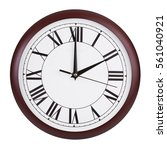 exactly two o'clock on a round... | Shutterstock . vector #561040921