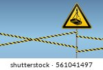 caution   danger  may fall from ... | Shutterstock .eps vector #561041497