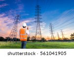 electrical engineer with high... | Shutterstock . vector #561041905