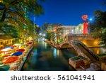 river walk in san antonio ... | Shutterstock . vector #561041941
