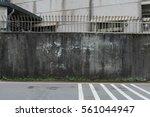large blank billboard on a... | Shutterstock . vector #561044947
