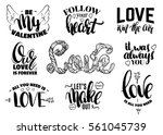 st. valentine's day set of... | Shutterstock .eps vector #561045739