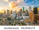 downtown houston skyline in... | Shutterstock . vector #561046174