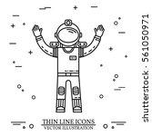 astronaut in space. human... | Shutterstock .eps vector #561050971