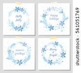 christmas and new year...   Shutterstock .eps vector #561051769