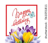 happy birthday card with with... | Shutterstock .eps vector #561051811