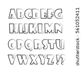 sketch of the english alphabet... | Shutterstock .eps vector #561052411