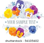 pansy and forget me in a... | Shutterstock .eps vector #56105602