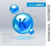 mineral k kalium blue shining... | Shutterstock .eps vector #561058825