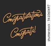 congratulations. hand lettering ... | Shutterstock .eps vector #561060697