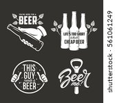 beer related quotes set. hand... | Shutterstock .eps vector #561061249