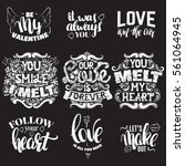 collection of quote... | Shutterstock .eps vector #561064945