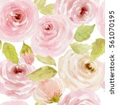 watercolor floral background... | Shutterstock . vector #561070195