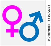 male  female icon  sign | Shutterstock .eps vector #561072385