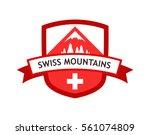 vector red logo of swiss...   Shutterstock .eps vector #561074809