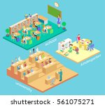 isometric flat 3d isolated... | Shutterstock . vector #561075271