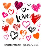 vector hand drawn collection of ... | Shutterstock .eps vector #561077611