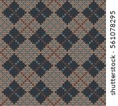 knitted seamless pattern in... | Shutterstock .eps vector #561078295