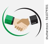 handshake in flat style....   Shutterstock .eps vector #561079501