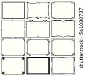 decorative simple frames  set...   Shutterstock .eps vector #561080737