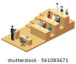 isometric flat 3d concept... | Shutterstock . vector #561083671