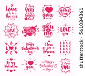 happy valentine's day label set ... | Shutterstock .eps vector #561084361