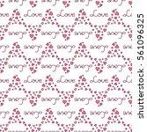 valentines day seamless pattern ...   Shutterstock .eps vector #561096325