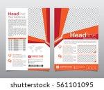 brochure flyer design template  ... | Shutterstock .eps vector #561101095