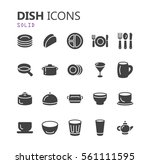 simple modern set of dish icons.... | Shutterstock .eps vector #561111595